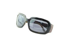 在白色背景隔绝的太阳镜 免版税库存照片