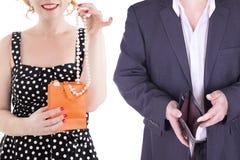 在白色背景隔绝的夫妇成人 免版税库存图片