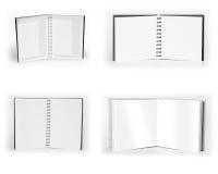 在白色背景隔绝的套笔记本 免版税库存图片