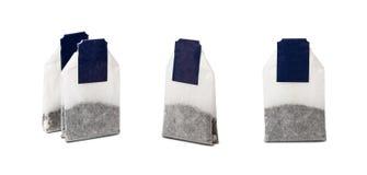在白色背景隔绝的套茶袋 免版税库存图片