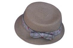 在白色背景隔绝的女帽类 免版税库存照片