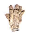 在白色背景隔绝的工作手套 库存图片