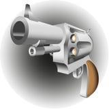 在白色背景隔绝的左轮手枪 免版税库存照片