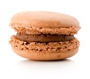 在白色背景隔绝的巧克力蛋白杏仁饼干 图库摄影