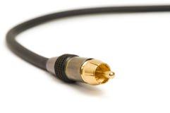 录影电缆接线 库存照片