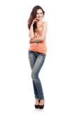 快乐的美丽的妇女 免版税图库摄影