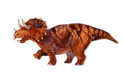 在白色背景隔绝的恐龙三角恐龙 免版税库存照片