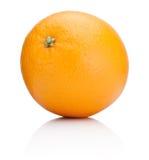 在白色背景隔绝的成熟橙色果子 免版税图库摄影