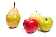 在白色背景隔绝的成熟水多的果子 剪报轻拍 免版税库存图片