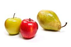 在白色背景隔绝的成熟水多的果子 剪报轻拍 图库摄影