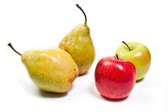 在白色背景隔绝的成熟水多的果子 库存照片
