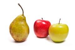 在白色背景隔绝的成熟水多的果子 免版税图库摄影