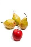 在白色背景隔绝的成熟水多的果子 图库摄影