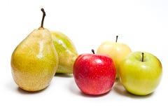 在白色背景隔绝的成熟水多的果子 免版税库存照片