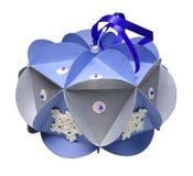 在白色背景隔绝的手工的圣诞节装饰 免版税库存图片