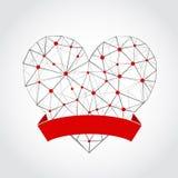 在白色背景隔绝的抽象心脏 向量例证