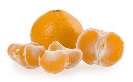 在白色背景隔绝的新鲜的橙色普通话 免版税库存图片