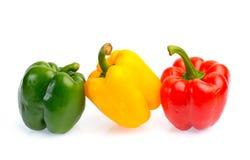 在白色背景隔绝的新鲜的甜椒 免版税库存图片