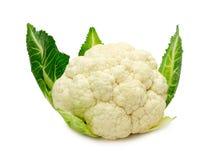 在白色背景隔绝的新鲜的花椰菜 库存图片