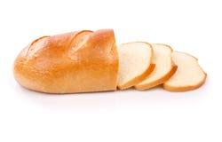 在白色背景隔绝的新鲜面包 库存图片