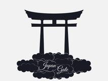 在白色背景隔绝的日本门, torii门,日本ga 免版税库存照片