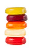 在白色背景隔绝的明亮的糖果 免版税库存图片