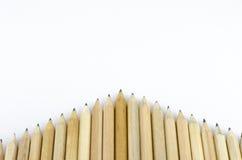 在白色背景隔绝的木铅笔 免版税图库摄影