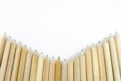 在白色背景隔绝的木铅笔 库存照片