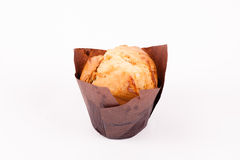 在白色背景隔绝的松饼 免版税图库摄影