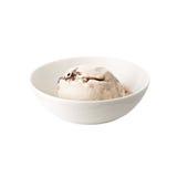 在白色背景隔绝的板材的巧克力冰淇凌 免版税库存照片