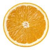 在白色背景隔绝的橙色一半裁减 免版税库存图片