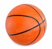 在白色背景隔绝的橙色篮球 免版税库存图片