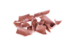 在白色背景隔绝的残破的巧克力 库存照片