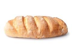 在白色隔绝的法国大面包面包 免版税库存图片