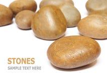 在白色背景隔绝的海石头 免版税库存照片