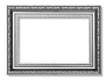 在白色背景隔绝的灰色古色古香的框架 库存图片