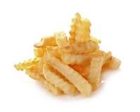 在白色背景隔绝的炸薯条 库存图片