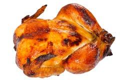 在白色背景隔绝的烤箱的鸡烤肉 免版税图库摄影