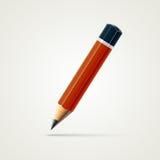 在白色背景隔绝的现实详细的被削尖的铅笔 10 eps例证盾向量 免版税库存照片
