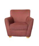 在白色背景隔绝的现代沙发扶手椅子 图库摄影