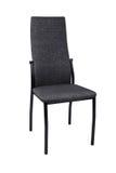 在白色背景隔绝的现代黑灰色椅子 正面图 图库摄影