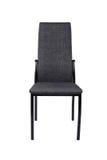 在白色背景隔绝的现代黑灰色椅子 正面图 免版税图库摄影