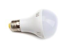 在白色背景隔绝的白色电灯泡 免版税图库摄影