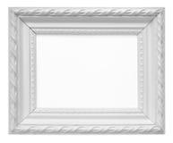 在白色背景隔绝的白色葡萄酒艺术框架 图库摄影