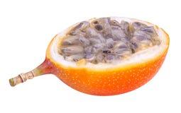 在白色背景隔绝的百香果类水果 免版税库存图片