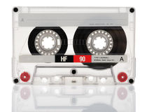 在白色背景隔绝的盒式磁带 免版税库存图片