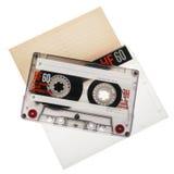 在白色背景隔绝的盒式磁带 免版税库存照片