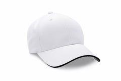 在白色背景隔绝的盖帽 棒球帽 免版税库存照片