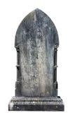 在白色背景隔绝的空白的墓碑准备好题字 免版税库存图片