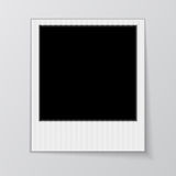 在白色背景隔绝的空白的照片框架 免版税库存图片